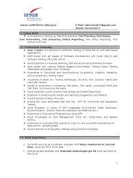 Image Result For Software Test Engineer Resume 2 Years Experience Software Testing Resume Software Resume Format