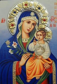 Blessed Mother Mary, Blessed Virgin Mary, Virgin Mary Art, Hail Holy Queen, Pictures Of Jesus Christ, Images Of Mary, Little Prayer, Mary And Jesus, Archangel Michael