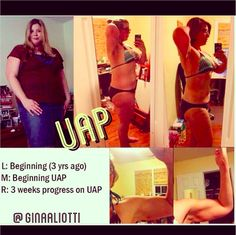 """""""I started my journey 3 years ago, trying to get healthy. I lost 145 pounds but then hit a plateau and bounced back a bit after trying a super restrictive diet. I started Gina's UAP and now after only 3 weeks, the scale is moving again and I am seeing changes again, finally!!! I cannot encourage people enough to try this plan, it really works!!"""