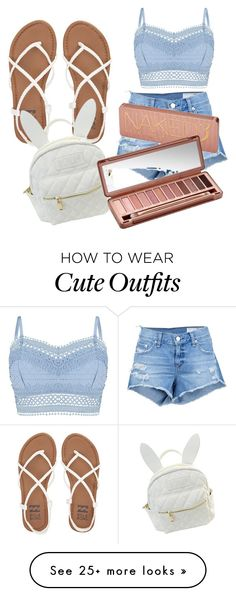 """Summer outfit"" by abarrios2001 on Polyvore featuring Lipsy, rag & bone/JEAN, Billabong, cutekawaii and Urban Decay"