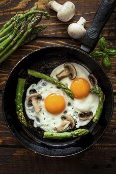 Veggie eggs over easy