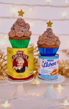 {#AD} I was dreaming up the kind of magic Nestle Abuelita Chocolate and @lalechera bring to my home when I envisioned Mexican Chocolate Tres Leches Cupcakes. I made individual cupcakes for easy packaging and sharing with loved ones over the holidays, because ultimately that's what it's all about! I'm not one to toot my own horn but these Mexican Chocolate Tres Leches Cupcakes are so divinely delicious, they will quickly become a festive season favorite. #tresleches