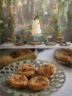 tasty wedding pies by Achatz Pies #underwaterthemewedding #bluewedding #weddingchicks http://www.weddingchicks.com/2014/01/03/fish-and-bird-backyard-wedding/