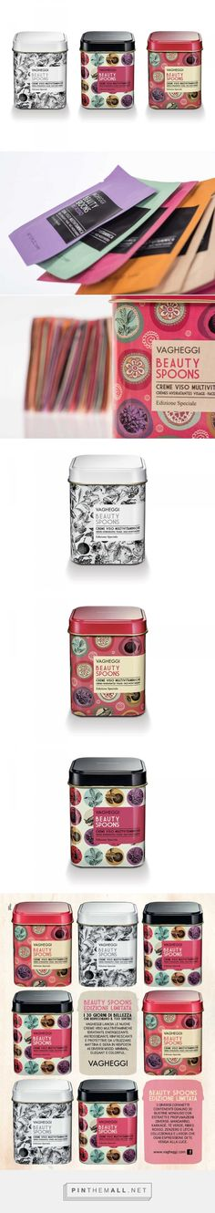 Vagheggi – Pack Beauty Spoons | Weagroup curated by Packaging Diva PD. Beautiful cosmetic tin packaging.