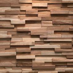 Plaquette de parement bois recyclé Ultrawood Teak Firenze marque Rebel of Styles disponibles au meilleure prix et qualité au style4walls.
