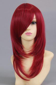 Wholesale Soul Eater Spirit Claret Halloween Cosplay Wig For Women (CLARET), Wigs - Rosewholesale.com