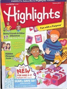 There are a few age ranges of the Highlights magazine... the older for Lola and High Five for Zeph  Highlights For Children: Amazon.com: Magazines