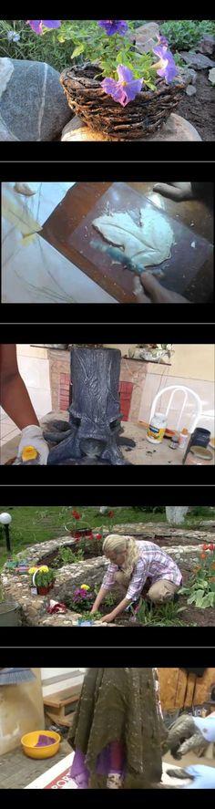 Edények, fazék cement és szövetek házak és kertek - YouTube