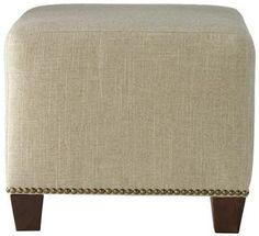 Custom Chandler Upholstered Ottoman - Furniture - Living Room - Ottomans - Seating - Benches | HomeDecorators.com  16H x 18.5sq $219