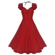 Swing Bella vintage dress rood- vintage, 50's, rockabilly, retro lange jurk