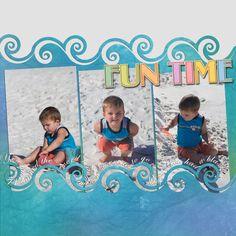 beach scrapbooking layout ideas | January Digital Scrapbook Showcase: Owen | Brady Lou: Project Guru