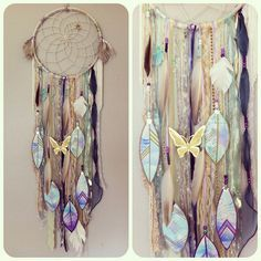 #dreamcatcher by Rachael Rice. Order yours at http://rachaelrice.com/art/custom-orders #pastel #watercolor #butterfly