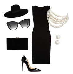 """""""Audrey Hepburn!"""" by madalyn0418 on Polyvore featuring BOSS Hugo Boss, Christian Louboutin, Charlotte Olympia, Dolce&Gabbana, Kate Spade, Christian Dior and Maison Michel"""