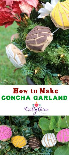 We let our conchas be our guide in 2016. From jewelry to plushies, these colorful Mexican pastries were EVERYWHERE. So why not some concha garland for our holiday decor? You can keep these out all year, I bet they'll be a fun conversation piece. You can string them over a doorway, across a bookcase shelf, or even take them apart and give out to friends as a sign of everlasting friendship!  Ooooh! how about gluing a pin back to them to make a fun brooch, and then add some rhinestones and...