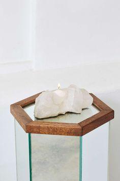 Rock Solid Quartz Candle Holder