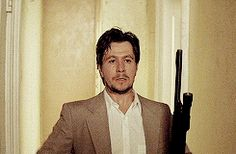 Gary Oldman in Leon: the Professional. So great in this role Gary Oldman Movies, Leon Matilda, Gary In, Luc Besson, Kevin Spacey, King Of My Heart, Jim Carrey, Aidan Turner, Tough Guy