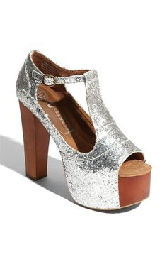 "Sparkly platforms that I ""need.""  Jeffrey Campbell 'Foxy' Platform Sandal"