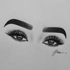 Eye Makeup Drawing Art Eyelashes Ideas For 2019 Pencil Art Drawings, Art Drawings Sketches, Cute Drawings, Drawing Art, Art Du Croquis, Realistic Eye Drawing, Makeup Drawing, Eye Sketch, Ouvrages D'art