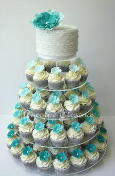 'Soft Ruffles' (coffee size cupcakes)