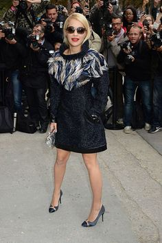 Rita Ora at the Chanel Spring/Summer 2014 show on October 1, 2013