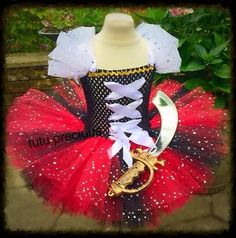 Pirate Inspired tutu dress - dressing up costume in Clothes, Shoes & Accessories, Fancy Dress & Period Costume, Fancy Dress | eBay