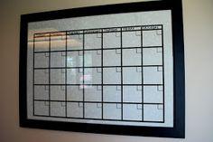 nannygoat: Dry Erase Calendar