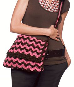 Knit & Crochet Ripple Bags