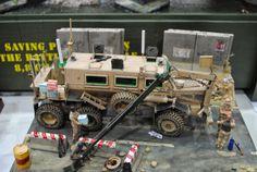 Buffalo 6X6 MPCV 1/35 Scale Model Diorama