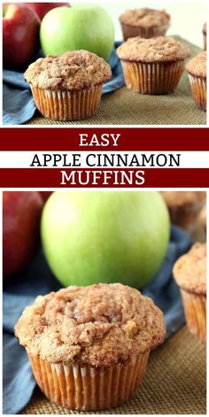 Easy Apple Cinnamon Muffins recipe from You can find Apple recipes and more on our website.Easy Apple Cinnamon Muffins recipe from Apple Recipes Easy, Apple Dessert Recipes, Köstliche Desserts, Delicious Desserts, Yummy Food, Apple Deserts Easy, Recipes For Apples, Desserts With Apples, Pie Recipes