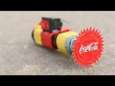 電池にモーター、スイッチ、王冠を組み合わせるだけ!小さな回転ノコギリの作り方 - 小太郎ぶろぐ