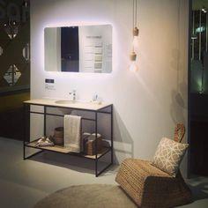 mueble lavabo carga mineral estilo industrial metro metal hierro negro pizarra