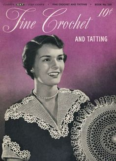 Fine Crochet and Tatting doilies, placemats, edgings, chair set, collar & cuff sets Vintage Patterns Book for download