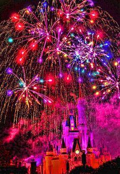 Walt Disney World - Magic Kingdom - Fireworks