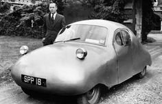 Inch Print - High quality print (other products available) - The British-made model, the Atom, seen here with Air Vice-Marshall Donald Bennett, director of Fairthorpe Ltd. - Image supplied by PA Images - Photo Print made in the USA Minis, Morris Minor, Love Car, National Photography, Small Cars, Vintage Motorcycles, Car Humor, Car Pictures, Poster Size Prints