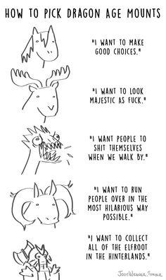 "jodywegner: ""How to Pick Dragon Age Mounts """