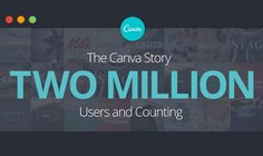 Canva Has Reached 2 Million Users! #infographic