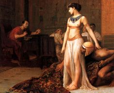 Cleopatra before Caesar - John William Waterhouse