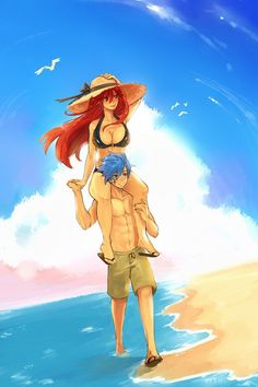 Fairy tail// Erza Scarlet and Jellal Fernandes Fairytail, Erza Y Jellal, Fairy Tail Jellal, Anime Fairy Tail, Gruvia, Fairy Tail Love, Fairy Tail Amour, Fairy Tail Ships, Erza Scarlet