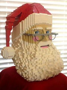 LEGO Christmas Santa Head