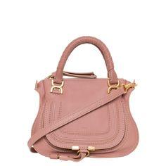 Chloe 'Marcie' Mini Anemone Pink Leather Shoulder Bag