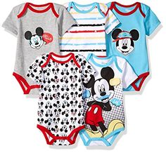 Disney Baby Boys' Mickey Mouse Five-Pack Bodysuits Size Disney Baby Clothes, Cute Baby Clothes, Baby Disney, Babies Clothes, Newborn Outfits, Toddler Outfits, Baby Boy Outfits, Kids Outfits, Cute Baby Boy