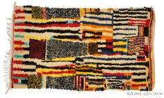 Azilal carpets are produced by the Ait Bouzid, Ait Shokmane, Ait Bou Oulli and Ait Bougmez tribes of the Azilal province in the High Atlas M...