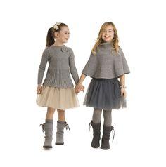 Il Gufo winter 2011 girlswear key items in camel and grey tones