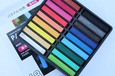 Chalk pastels from daiso Set of 18 Japanese Store, Chalk Pastels, Daiso Products, Things To Buy, Projects To Try, Scrap, Kawaii Stuff, Lettering, How To Plan