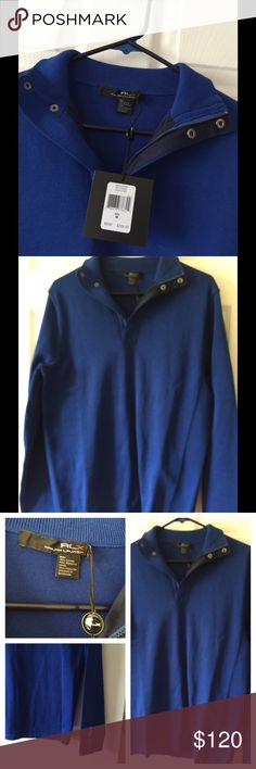 NWT RLX Golf Shirt Blue For Men M This Excellent high quality RLX for Men Size Medium Questions ask $245 Ralph Lauren Tops Sweatshirts & Hoodies