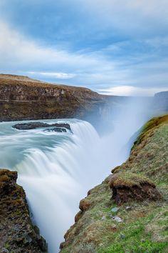 Gullfoss, The Golden Falls: 10 stunning shots of Iceland waterscapes - http://matadornetwork.com/trips/10-stunning-iceland-waterscapes/