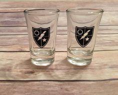 Army Ranger Shot Glasses Set of 2 perfect by SweetGeorgiaDesign