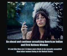 "Pinterest has hundreds of these photos of white and non-Native women wearing a stereotypical idea of what a wapaha is. The racist, inaccurate, twisted depictions are like a broken record on this site. It scares me how racist and insensitive white folks really are, even when they are professing their ""respect"" toward other cultures. These photos are a representation of this."