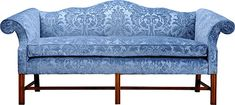 brookline furniture company camelback sofa | Two seater, three hump, camelback sofa on moulded mahogany legs and ...