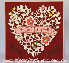 Stampin' Up!, Bloomin' Love, Bloomin Heart thinlits, At First Sight